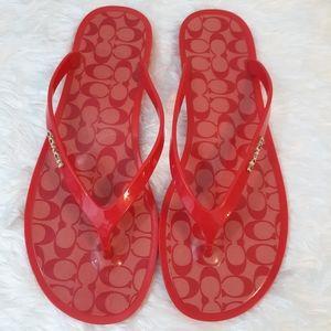 Coach lyra Kelly flip flops shoes sz 8
